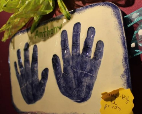 Kid's Clay Handprints