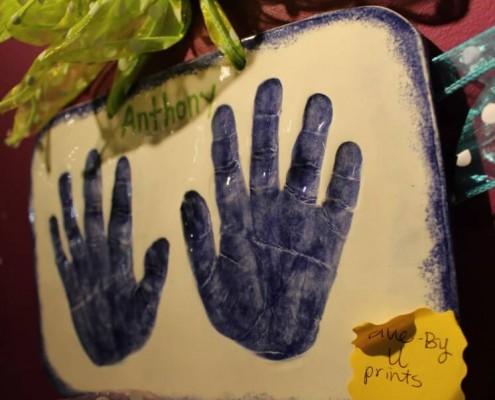 Kid's Clay Handprints