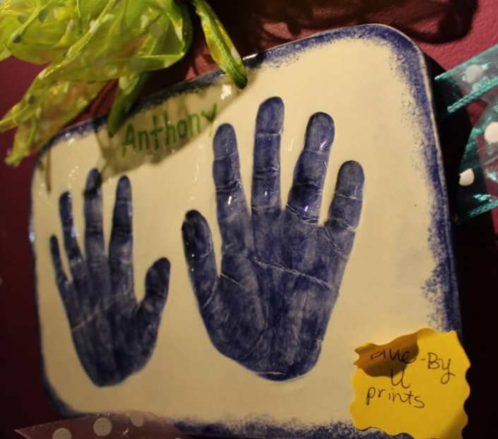 Kid's Clay Handprint