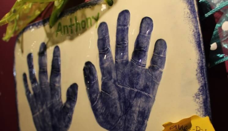 Kid's Clay Handprint