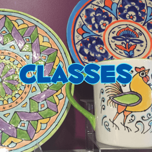 pottery painting studio class and art camp schedule