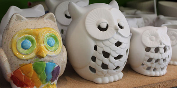 how to paint pottery owls