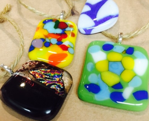glass fusion pendants