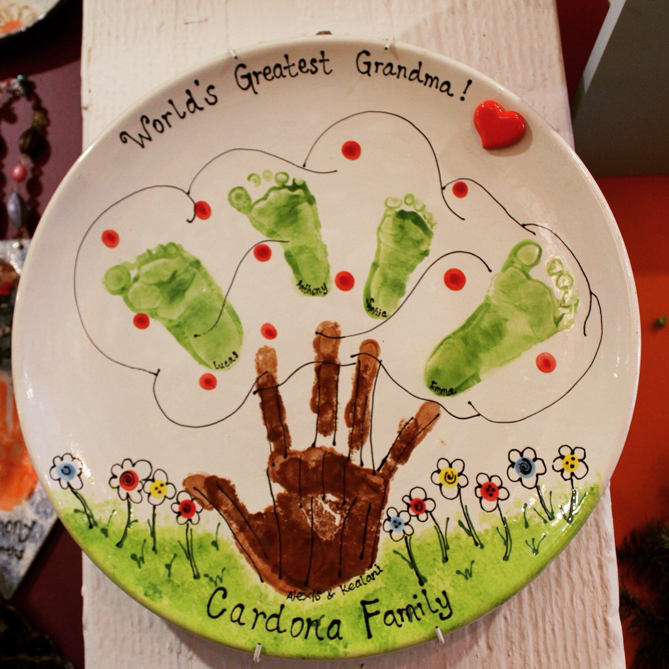 12 Creative Ways To Paint Pottery Using Handprints Create It Mobile Ceramics And Glass Studio