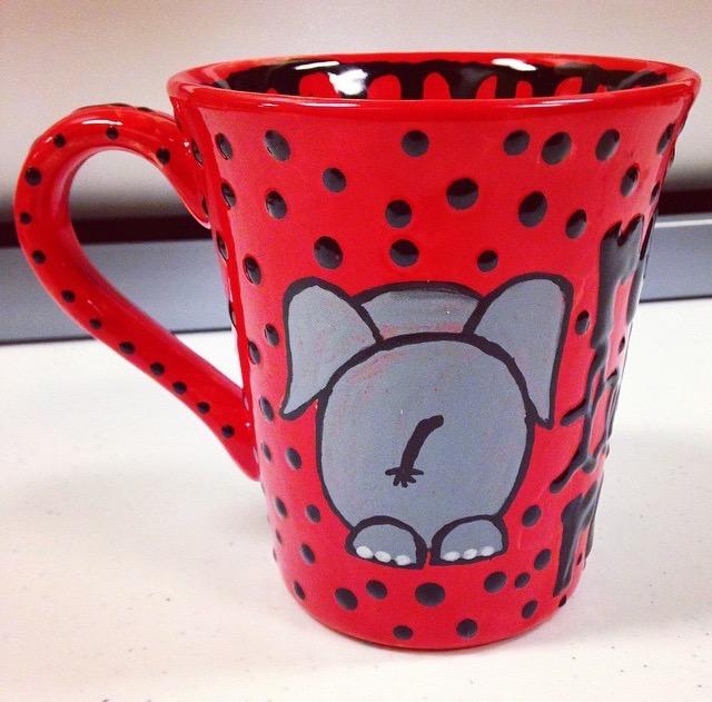 5 beautiful paint your own pottery mug ideas for Clay mug ideas