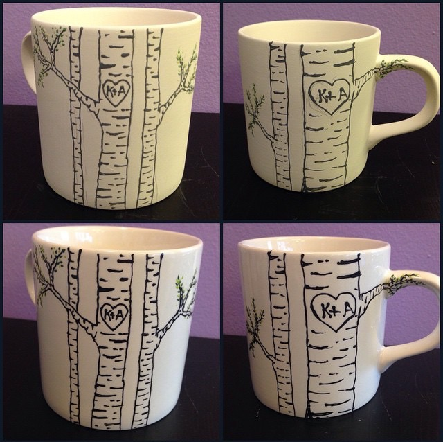 Paint your own pottery mug idea